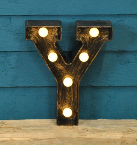 Letter Y- Battery Operated Lumiere